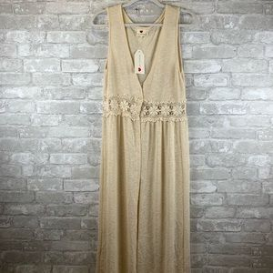 One Clothing cream duster NWT size l